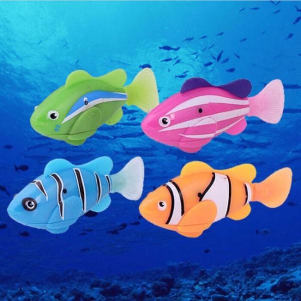 Đồ Chơi Robofish Activated Battery Powered Robo Toy fish Robotic Pet for Fishing Tank Decorating Fish - intl (Xả Kho)