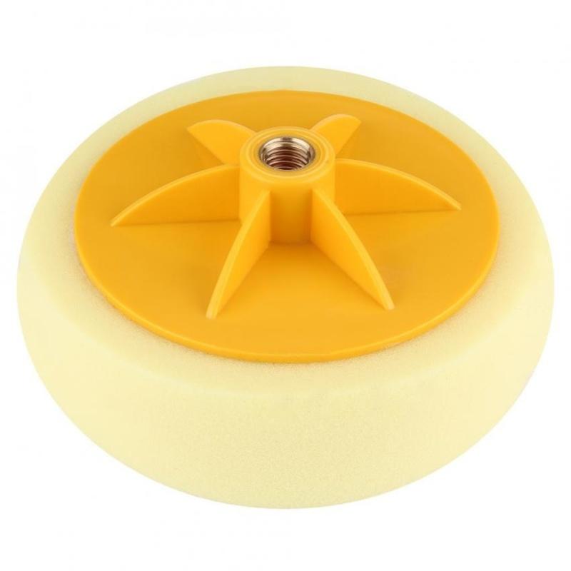 6 inch/15 cm Xốp Bánh Đánh Bóng Tẩy Lông Lót Bộ Dụng Cụ cho Xe Máy Đánh Bóng (Màu Vàng)-quốc tế