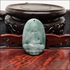 Mặt Dây Chuyền Đá Cẩm Thạch Phỉ Thuý 8 Vị Phật Bổn Mạng Mệnh Mộc Hoả 3.6x2.3cm (màu xanh) - Ngọc Quý Gemstones