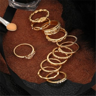 Ai home 01 bộ 12 cái nhẫn chạm khắc màu vàng Vintage - INTL thumbnail