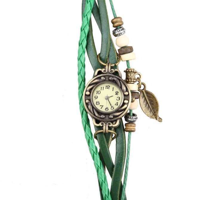 amart round case quartz analog wrist watch bracelet with