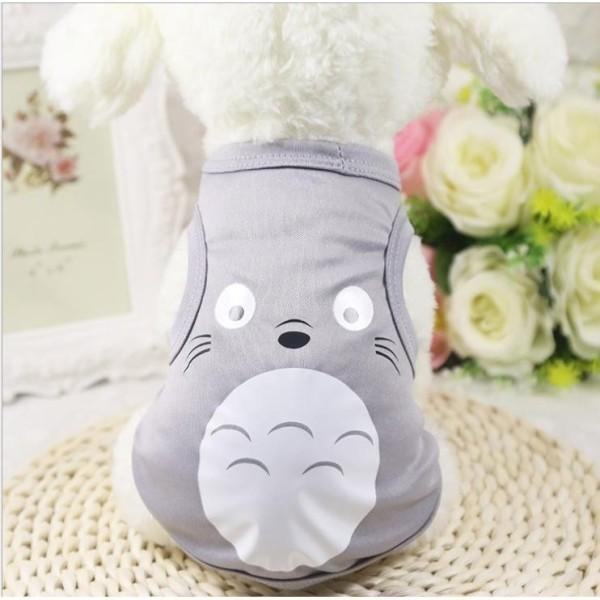 áo chó mèo cao cấp kiểu áo thun in hình mặt toroto xám size xxl ( dành cho chó mèo 8 -12 kg )8