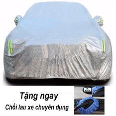 Áo Trùm Xe cho Ô tô 7 chỗ 2 lớp phủ nhôm bạc, chống ẩm, 4D 2XL Dành Cho Xe fortune + Tặng chổi lau xe chuyên dụng