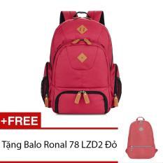 Giá Bán Ba Lo Ronal Bl59 Đỏ Logo Bo Tặng Ba Lo Ronal 78 Lzd2 Đỏ Mới