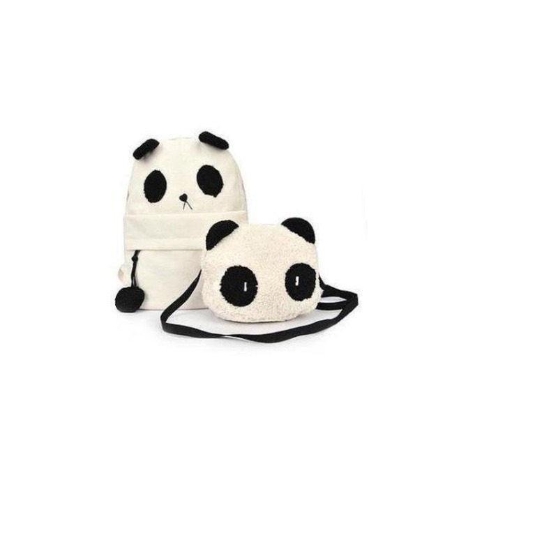 Ba lô vải và túi con đeo chéo Lagi N2058 Panda (Trắng) bán chạy