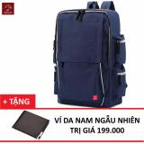Giá Bán Balo Laptop Thời Trang Glado Blg056 Xanh Tặng Ví Nam Thời Trang Glado