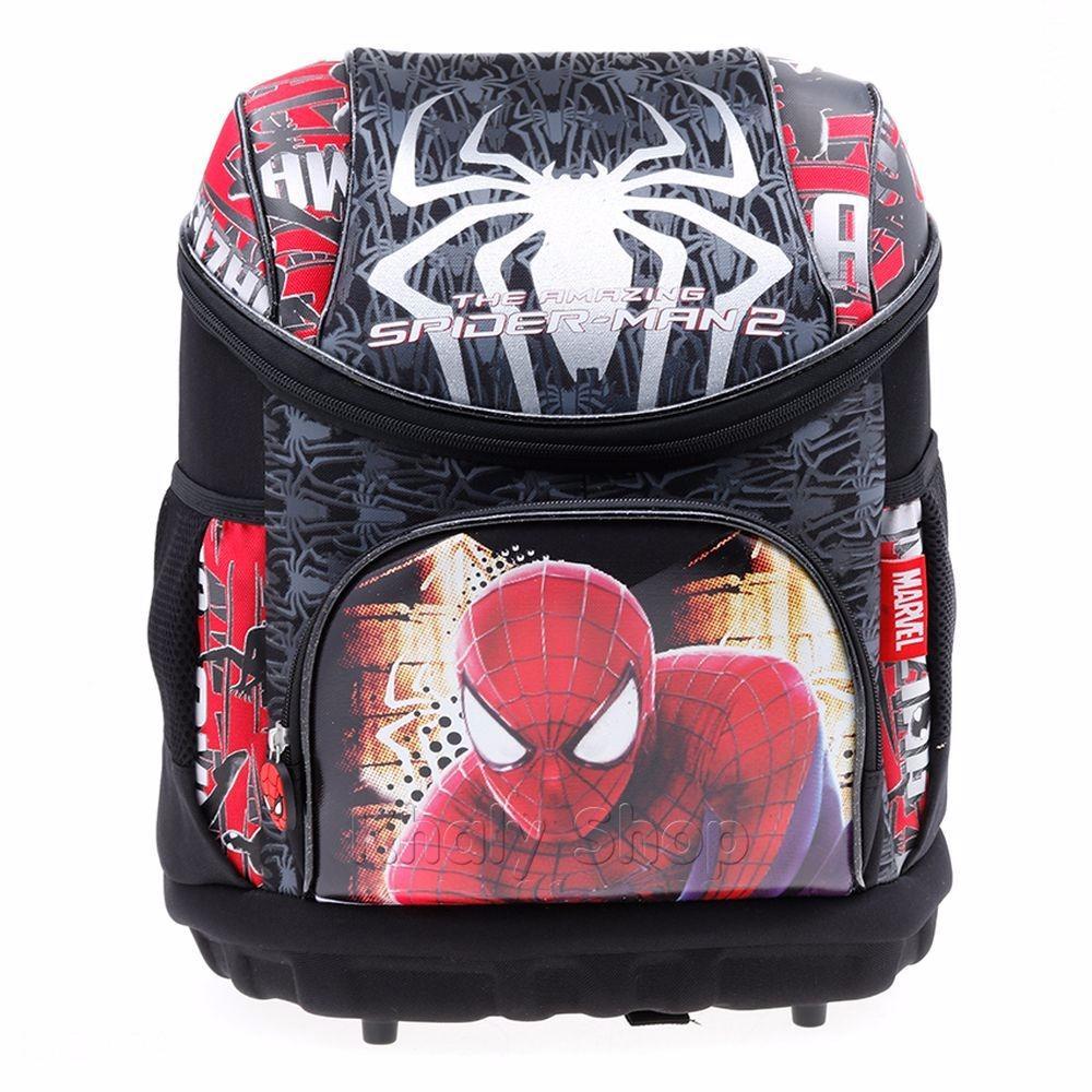 Balo Phù Chống Gù Lưng 15'' Hình Người Nhện Spiderman Màu Đỏ Đen Dành Cho Học Sinh , Trẻ Em ,bé Trai