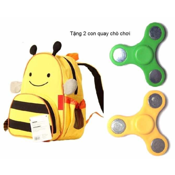 Hình ảnh Balo trẻ em hình thú cho bé 2 đến 5 tuổi (Khỉ con) Tăng 2 đồ chơi con quay