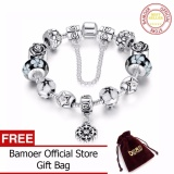 Bán Bamoer Authentic 925 Silver Round Charm Bracelet With Safety Chain For Women Original Jewelry Pa1850 Intl Rẻ Trong Trung Quốc