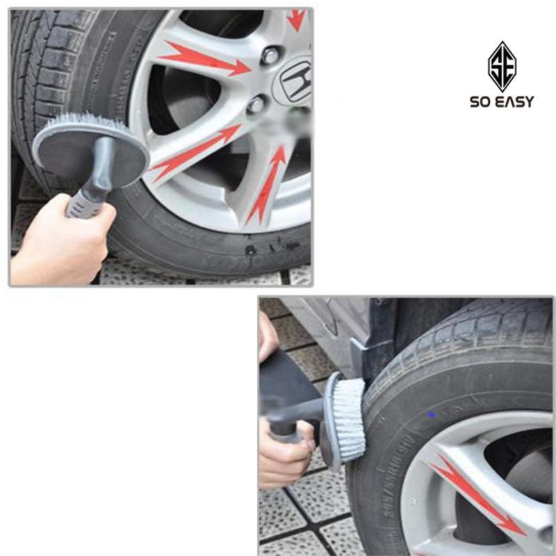 Bàn chải, cọ, chổi chuyên chà rửa lốp xe, bánh xe hơi, xe ô tô, xe tải, xe khách, xe máy làm tăng tuổi thọ xe_RX17 (xám)