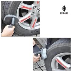 Hình ảnh Bàn chải, cọ, chổi chuyên chà rửa lốp xe, bánh xe hơi, xe ô tô, xe tải, xe khách, xe máy làm tăng tuổi thọ xe_RX17 (xám)_LATL