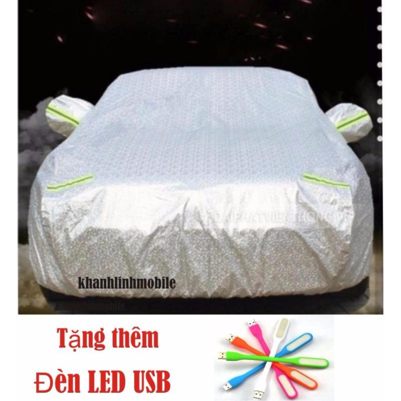 Bạt phủ ôtô 2 lớp oto 4 chỗ siêu nhẹ + đèn LED USB ( SIZE 3mx29) _ Dành cho xe Vios