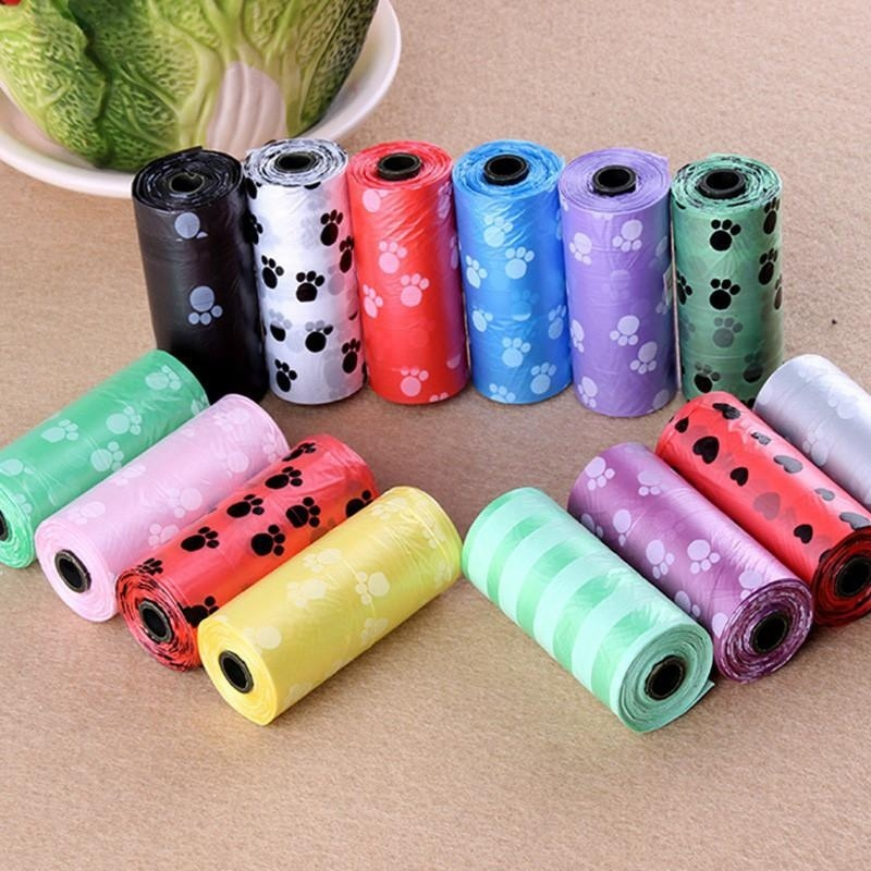 Beautymaker 10Roll 150pcs Set Degradable Pet Waste Poop Bags Dog Cat Clean Up Garbage Bag - intl