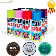 Bình sơn xịt atm spray A243 GreenNetworks (cà phê sữa)