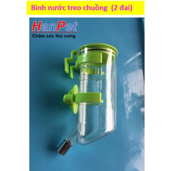 HCM-Bình uống nước tự động treo chuồng thú cưng (loại 350ml - 2 đai treo)  382 Bingf uống nước chó / bình uống mè-HP10797TC