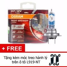 Ôn Tập Bộ 2 Bong Đen O To Osram H7 Night Breaker Laser 130 Tặng Kem Moc Treo Hanh Lý Tren O To L919 Nt