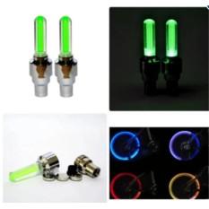 Bộ 2 đèn LED gắn van bánh xe đạp, xe máy, xe ô tô Thiên Ân (Xanh lá)