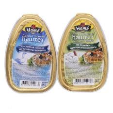 Hình ảnh Bộ 2 hộp Patê gan ngỗng, gà tây Hame 105g