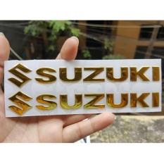 Giá Cực Tốt Khi Mua Bộ 2 Miếng Dán Nổi Chữ Suzuki (Vàng)