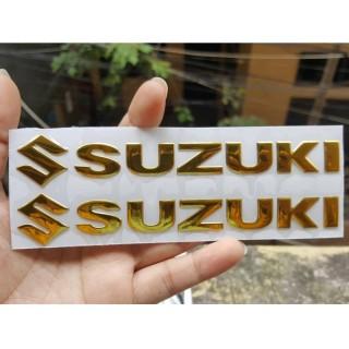 Bộ 2 miếng dán nổi chữ Suzuki (Vàng) thumbnail