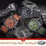 Ôn Tập Bộ 3 Đồng Hồ Nam Day Vải Nato Bewatch Xanh Reu Nau Đen Tặng Kem 01 Vien Pin Bewatch