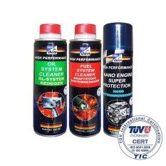 Bộ 3 Sản Phẩm Vệ Sinh Va Chăm Soc Xe May Xăng Toan Diện Bluechem Fuel Oil Nano 3X250Ml Bluechem Chiết Khấu 50