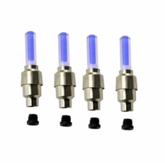 Bộ 4 đèn LED trang trí gắn van bánh xe máy ô tô tiện ích HQ STORE 1TI31-2