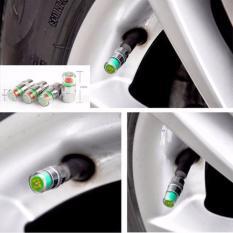 Bộ 4 nắp chụp van đo áp xuất lốp ô tô cảnh báo an toàn