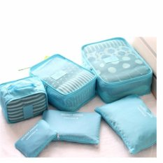 Bán Bộ 6 Tui Du Lịch Chống Thấm Bags In Bag Xanh Dương Nhạt Trực Tuyến Hồ Chí Minh