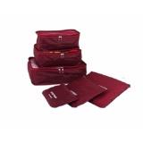 Giá Bán Bộ 6 Tui Đựng Đồ Du Lịch Chống Thấm Bag In Bag Đỏ Đo Nguyên Cho Deal 24H