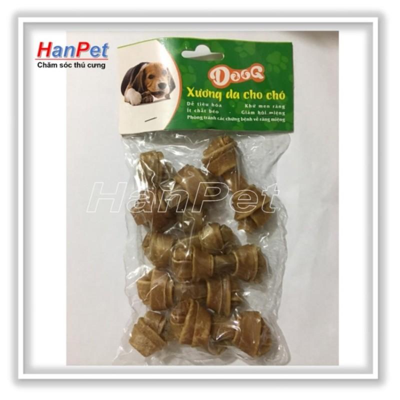 Hanapet-Bộ 8 Xương xoắn da bò cho chó gặm - dài 5cm ( 368)
