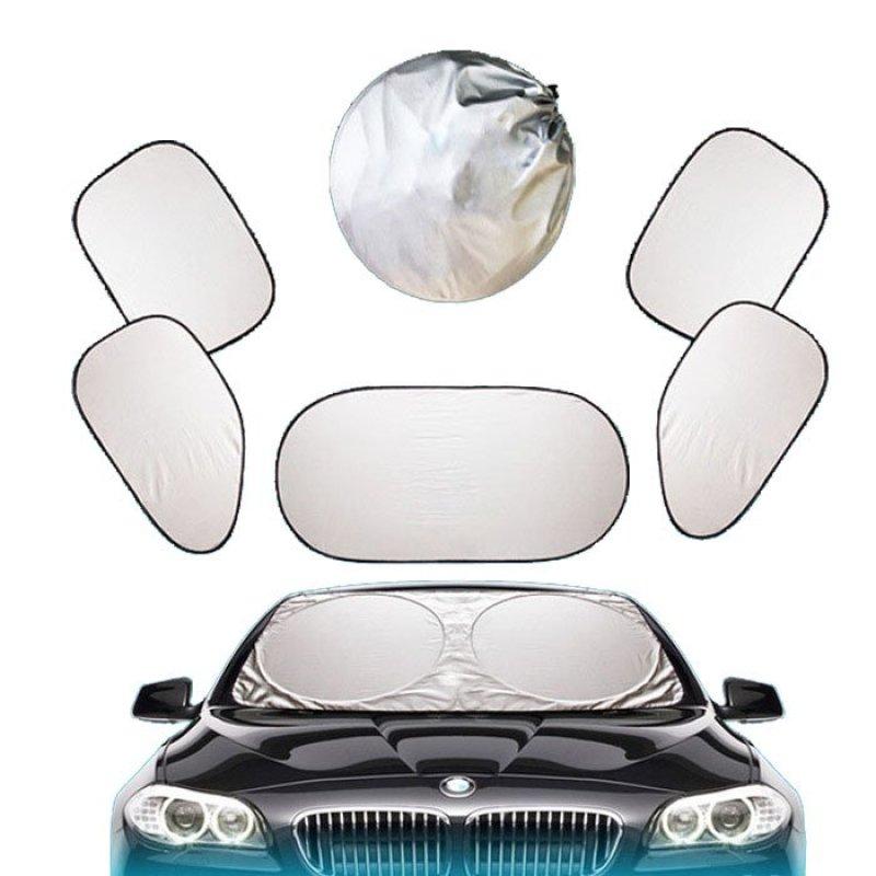 Bộ che nắng ô tô Smart 6 món (Bạc)