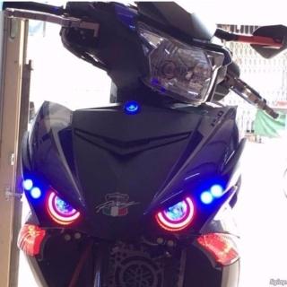 Bộ đèn mắt cú cho Exciter 150 có 2 Angle eyes màu đỏ và 4 Led Demi xi nhan màu xanh dương thumbnail