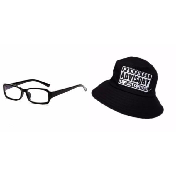 Giá bán Bộ kính giả cận và mũ bucket đen nam nữ