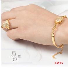 Bộ nhẫn và lắc tay tỳ hưu mạ vàng 18k cóc ngậm tiền siêu đẹp chiêu tài lộc 2018