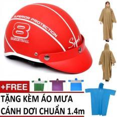Giá Bán Bộ Non Bảo Hiểm Thời Trang Mode Haly Nữa Đầu 1 Ao Mưa Canh Dơi 1 4M Mau Ngẫu Nhien Đỏ Trong Hồ Chí Minh