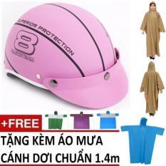 Bán Bộ Non Bảo Hiểm Thời Trang Mode Haly Nữa Đầu 1 Ao Mưa Canh Dơi 1 4M Mau Ngẫu Nhien Hồng Trực Tuyến Hồ Chí Minh