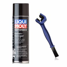 Bộ sản phẩm chai xịt vệ sinh sên Liqui Moly 1602 và cọ vệ sinh sên có ngàm cua tiện dụng