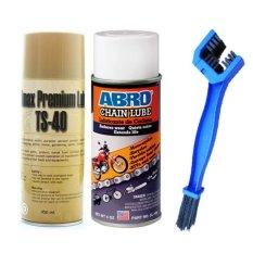 Bộ sản phẩm vệ Chai sinh sên Ts-40 450ml và Chai dưỡng sên Abro 200ml + Bàn chải vệ sinh sên 3D