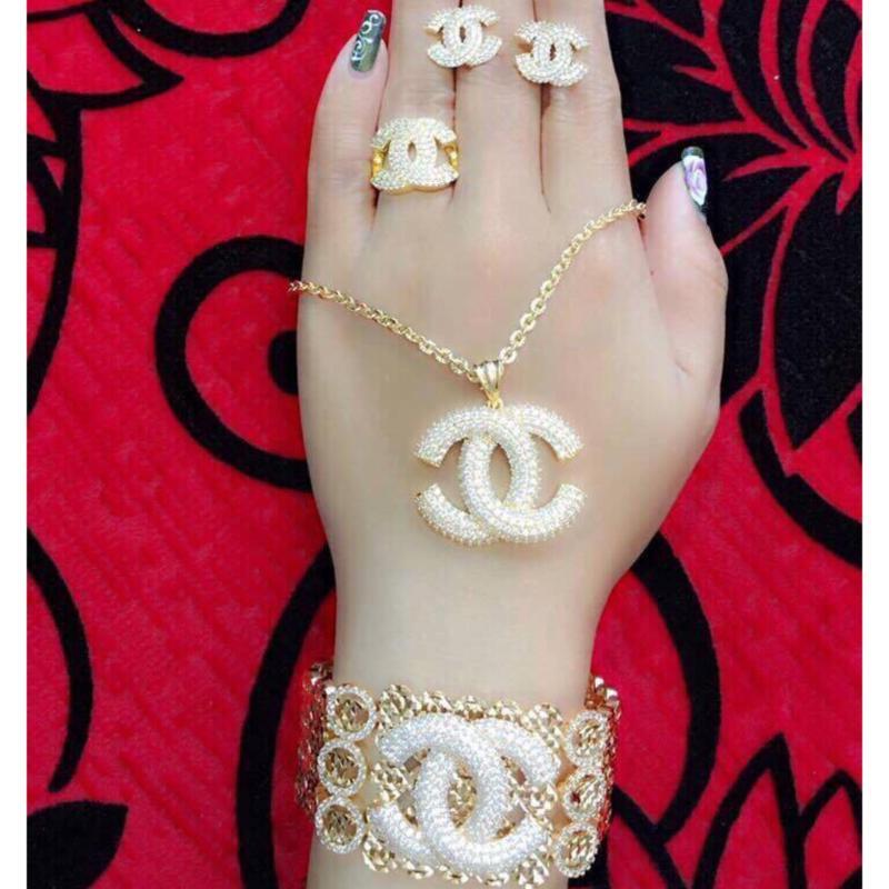 Bộ Trang Sức Nữ Xi Vàng 18K Gadoshop_VB4190613
