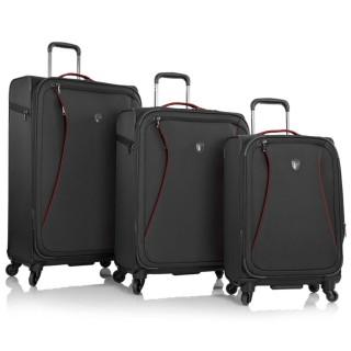 [HCM]Bộ 3 cái vali vải nhẹ cao cấp Helix Spinner khóa TSA Black đựng 7Kg 20Kg và 30Kg màu đen TA439 thumbnail