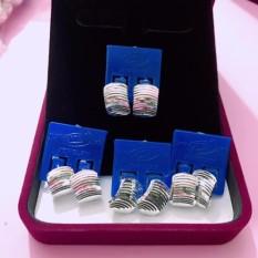 Bông tai bạc, bông tai bạc 925 sát tai , bông tai phay không đá, bông tai 100% bạc cao cấp BT74 trang sức Bạc QTJ(bạc)