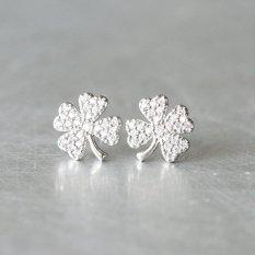 Bong Tai Bạc Nữ Trang Sức Đẹp Cỏ Bốn La Gix Jewelry Spe 0024 Trắng Hồ Chí Minh Chiết Khấu 50