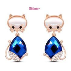 Bán Bong Tai Lovely Blue Cat B2565 Xanh Tatiana Có Thương Hiệu