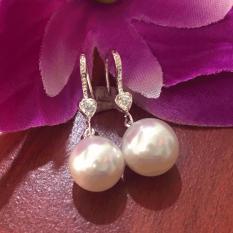 Bông tai ngọc trai, bông tai ngọc trai bạc 925, bông tai giáng dài , bông tai 100% bạc cao cấp BT78 trang sức Bạc QTJ