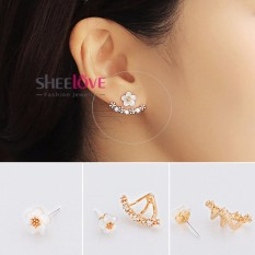 Hình ảnh SHEELOVESHOP-Bông tai hoa mai viền đính đá zircon lấp lánh thời trang Hàn Quốc HKE-JY5381