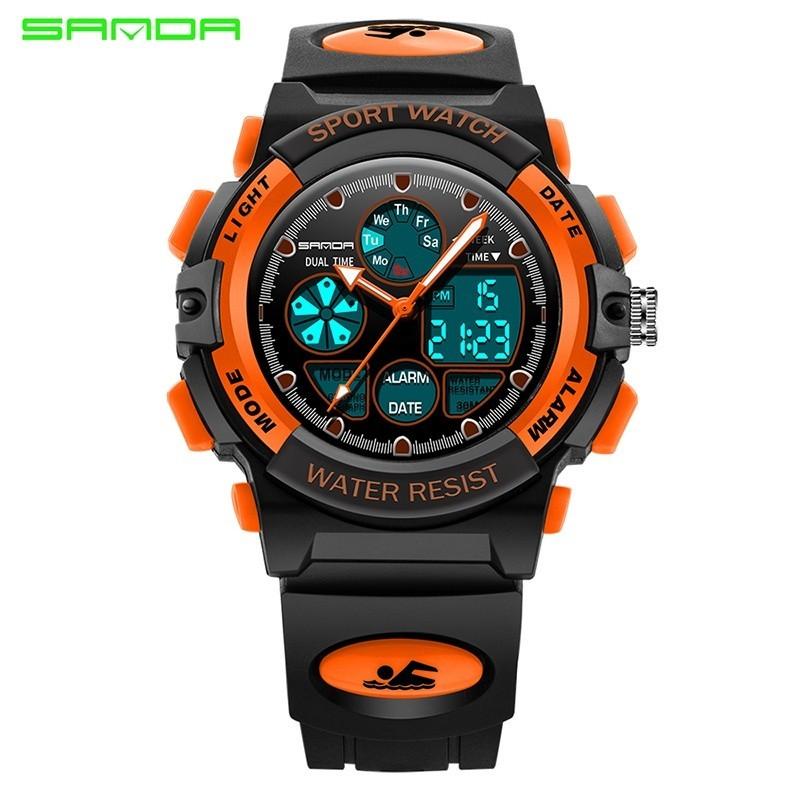 Nơi bán Brand Watch Children Sports Watches Fashion LED Quartz Digital Watch Boys Girls Kids Waterproof Wristwatches116 - intl