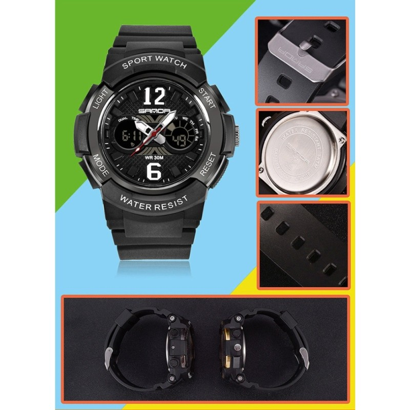 Brand Watch Dropship Children Colorful Back Light Sport Kids Wristwatches Alarm Chronograph 30m Waterproof Calendar Clock 757 - intl bán chạy