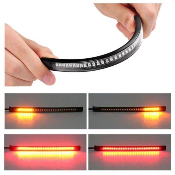 BUYINCOINS Dải 48 đèn Led đa năng cho đuôi xe máy giúp phanh dừng bật đèn tín hiệu linh hoạt - INTL
