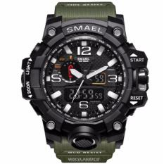 CANADO ⌚️ ĐỒNG HỒ LÍNH THỦY ĐÁNH BỘ CỦA MỸ - SMAEL Watch 1545 S-SHOCK Series of Gold Jungle Luxury Style Outdoor Sports Mens Dual Display Electronics Watch